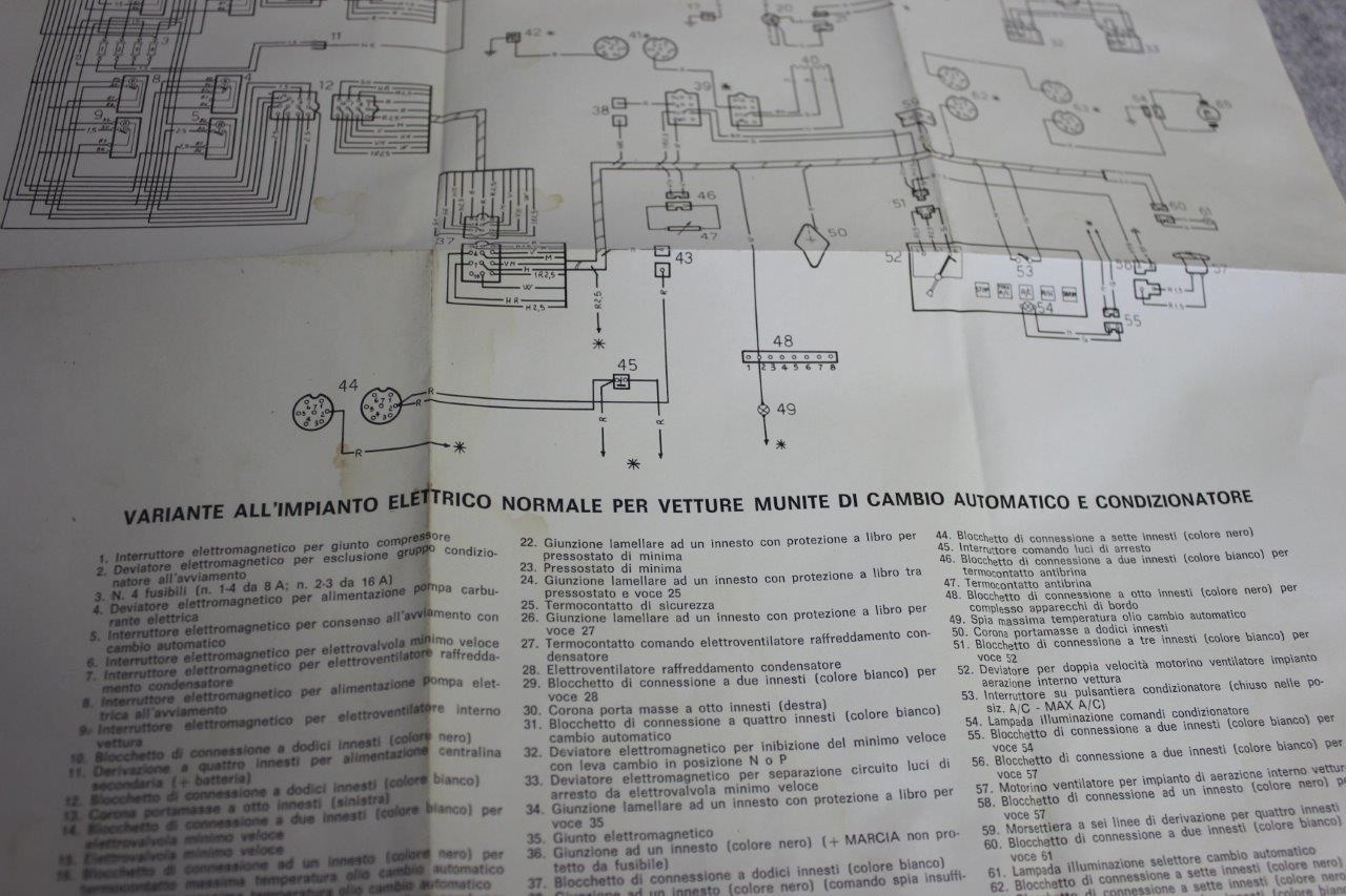 Lancia Beta Coupe And Hpe Original Wiring Diagrams