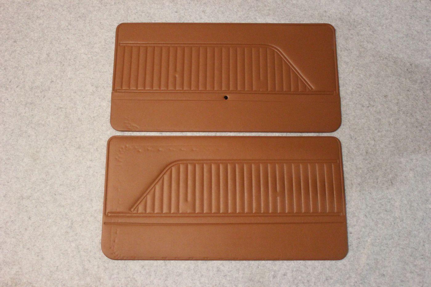 brown door panels